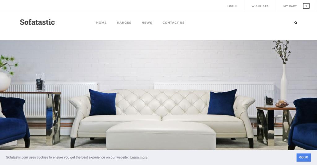 Sofatastic e-commerce site